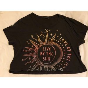 TRULY MADLY DEEPLY Black Crop Top (Pacsun)